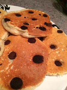 Healthy chocolate chip protein pancake recipe